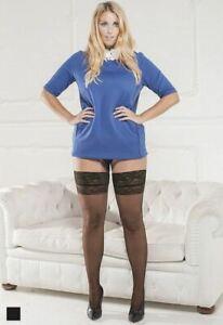 Margherita Plus Size Hold Up Stockings 20 Denier Curvy Sheer Fashion Nylons