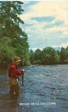 REGION DE LA CHAUDIERE CANADA FISHING SCENE/ FISHERMAN PM 1973  (JL5-755)