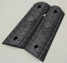 77_9043blkb SALE Any 1911 Govt  Larry Davidson Grenade Punisher G10 Grips
