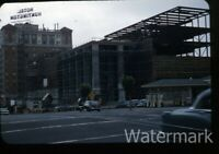1950s kodachrome Photo slide  San Francisco CA gas station building construction