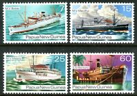 Papua New Guinea 1976 Ships of the 1930's set of 4 Mint Unhinged