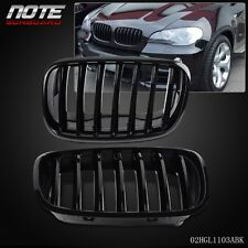 2 pcs Glossy Black Front Bumper Kidney Grille For BMW E70 X5 E71 X6 2007-2013