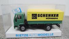 Rietze H0 60101 Ford Cargo Pritschen LKW Schenker Nürnberg DJ 142 Neuwertig