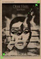 Debbie Harry Koo Koo Blondie Advert NME Cutting 1981