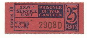 USA WWII POW Camp Chit IN-2-2-25 1537 SU Atterbury IN 25 Cent Prisoner of War