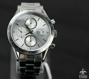 TAG Heuer Carrera Automatic Chronograph Tachymeter Stainless Steel Watch CV2011