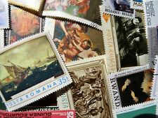 Thematic pack of 100 Art mainly MNH & CTO FREE DELIVERY