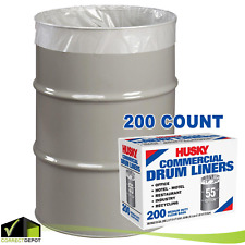 200-Count 55 Gal Trash Bag Husky Economy Garbage Recycling Liners Twist Ties