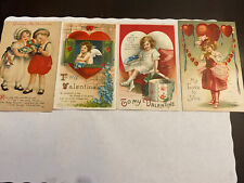 4 Vintage Clapsaddle Other Valentines Postcards