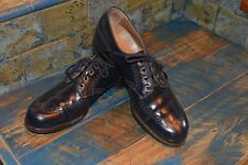 Vintage! Awesome Navy Blue Spectator Oxford Shoes! Size 7.5