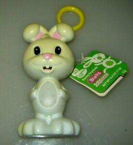 "Brach's Jellybeans Bunny Keychain toy 2012 lights up! 4.5 "" with tag..."