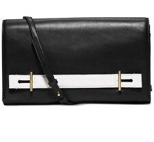 NWT Michael Kors Chelsey Large Clutch Black Leather Handbag ~ MSRP $268