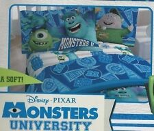 Disney Pixar Monsters University Twin Sheet Set - Blue