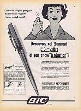 PUBLICITE ADVERTISING 045 1959 BIC Mystère et son encre à réaction