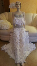 SAMPLE - Crystal Taffeta Petal Goddess Bridal Wedding 2 PC Ball Gown Skirt Set