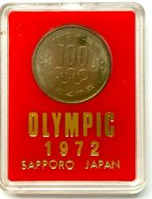 Sapporo Olympic 1972 Coin 100 Yen Coin with Case
