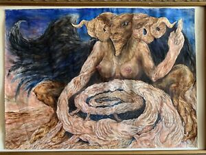 Baphomet Painting - Orryelle - Fulgur - Xoanon - Aleister Crowley Witchcraft