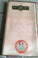 Vintage The Dubarry Courtaulds Damask Tablecloth Boxed New Unused Peach