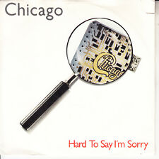 "CHICAGO  Hard To Say I'm Sorry PICTURE SLEEVE 7"" 45 record NEW + juke box strip"