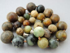 Huge Early 19th Rar Primitive Antique Jewelry Vintage Beads Necklace Agate Stone