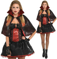 VAMPIRESS LADIES HALLOWEEN FANCY DRESS WOMENS ADULTS VAMPIRE COSTUME OUTFIT