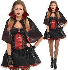 VAMPIRESS LADIES HALLOWEEN FANCY DRESS WOMENS ADULTS VAMPIRE COSTUME OUTFIT