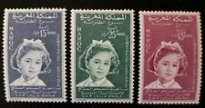 Morocco 1959, complete set stamps MH, YVERT 393/395,  Princess Lalla Amina