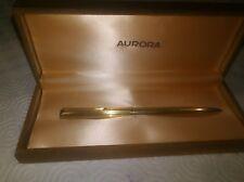 AURORA 98 ballpoint pen penna sfera laminata oro