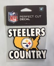 "Pittsburgh Steelers Country 4 x 4"" Team Logo Truck Car Auto Window Die Cut Decal"