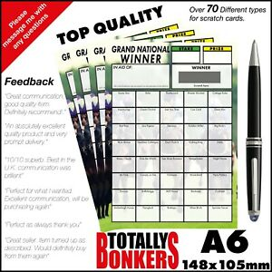 HORSE RACING - GRAND NATIONAL FUNDRAISING SCRATCH CARDS - 40 HORSES