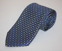 Brooks Brothers Star Medallion Shimmering Light Blue Woven Silk Tie Made USA