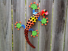 MEDIUM LIZARD Recycled Metal Garden Wall Hanging Art Sculpture & Home Decor