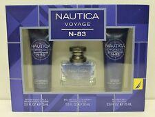 NAUTICA VOYAGE N 83 For Men Sets EDT Spray 1oz Shower Gel After Shave NEW
