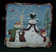 "Simply Home Snowman Family 15.5"" Decorative Accent Throw Pillow"