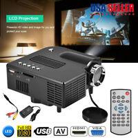 Mini Home Cinema Theater 1080P HD Multimedia USB LED Projector AV TV VGA HDMI SD
