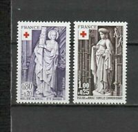 S25187) France 1976 MNH Red Cross 2v