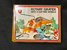 Vintage Rotary Grater 5 Cutting Wheels NEW Original Box Kitchen King