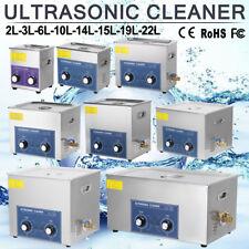 2-22L Ultraschallreinigungsgerät Ultraschallreiniger 304 Edelstahl mit Korb NEU~