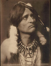"Original 1909 photograph taken by George Bancroft Cornish of ""WYANDOT CHIEF""."