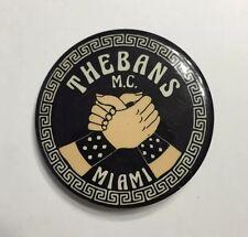 VTG OLD THEBANS MIAMI FLORIDA M.C. MOTORCYCLE CLUB PINBACK BUTTON GAY LGBT RARE