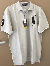 Men Cotton Polo Shirt RALPH LAUREN Big Pony Custom Fit