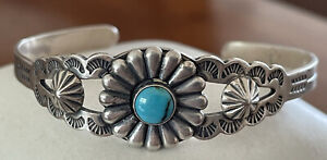 BELL TRADING POST Sterling Silver Turquoise Cuff