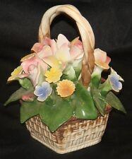 Nuova Capodimonte Flower Basket