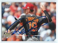 Rich Thompson signed 2008 Upper Deck card Los Angeles Angels autograph #346