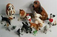 Vintage Lot of 13 Porcelain Dog Collectible Figurine Japan Brazil Moreno Beswick