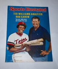 1977 NO LABEL ! Sports Illustrated TED WILLIAMS Rod Carew MINNESOTA TWINS !