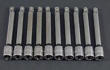 """CRAFTSMAN HAND TOOLS 10pc LOT 1/4 drive 3"""" ratchet socket extension (NO RESERVE)"""