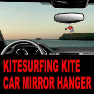 Pocket Kites - Kitesurfing Kite 3D Car Mirror Hanger (accessory, gadget, gift)