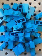 Lego 1x2 Dark Azure Blue Bricks Blocks 1 x 2 New Lot Of 50