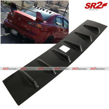 Rear Roof Shark Fin MR Vortex Black Spoiler Wing fits 08-16 Mitsubishi Lancer